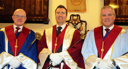 Pictured from left to right, are: The three new principals; Chris Todd, Ian White and Barry Corcoran.