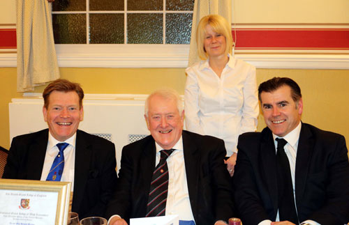 Pictured at the festive board, from left to right, are: Kevin Poynton, Mike Caldwell, Front of House Manager Joanne Hayes and Nick Delaney.