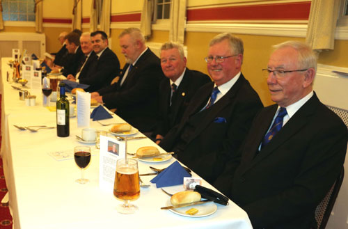 Top table at the festive board.