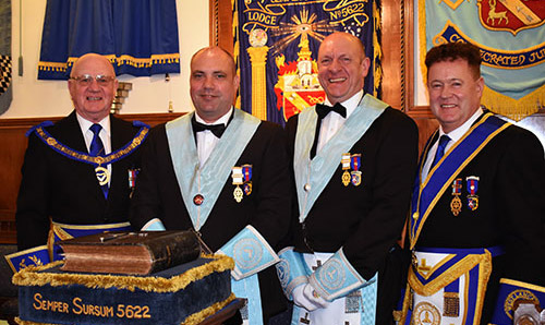 Pictured from left to right, are: David Grainger, Colin Taylor, Geoff Biddulph and Peter Schofield.