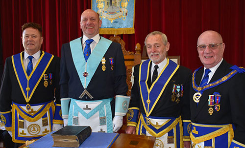 Pictured from left to right, are: Peter Schofield, Geoff Biddulph, Reg Walker and David Grainger