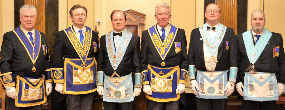 Pictured from left to right, are: Dave Johnson, Joe Hall, Derek Evans, Mark Matthews, Ian Turner and George Christie.