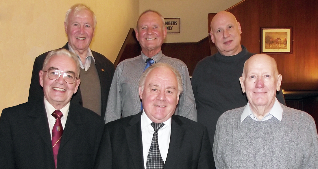 Pictured from left to right, on top row are: John Hutton, David Walmsley and Paul Heathcote. Bottom row: Bob Boal, Terry McGill and Anthony Hough.