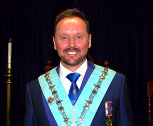 Neil installed as the master of Lathom Lodge