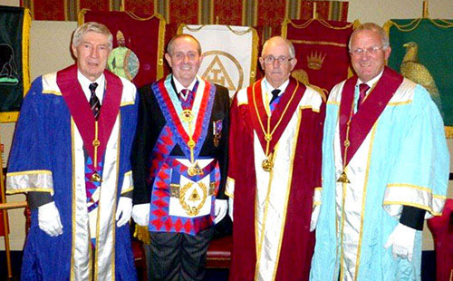 Pictured from left to right, are: Roy Seddon, Anthony Hall, Stuart Cunningham, Derek Midgley.