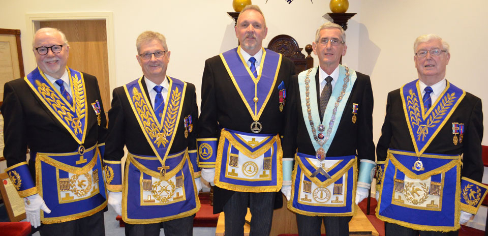 Pictured from left to right, are: Mike Adams, Gareth Jones, David Asbridge, Steve Brookes and Brian Hayes.