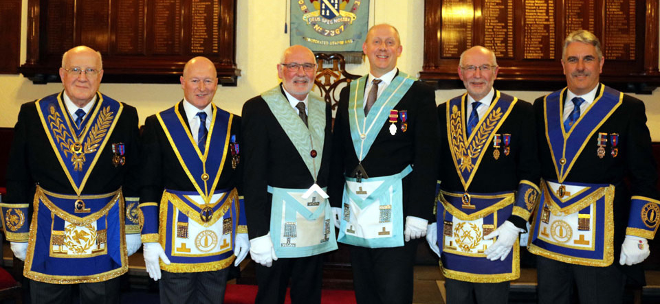 Pictured from left to right, are: Dennis Rudd, Peter Allen, Paul Santus, Derek Houghton, John James and Andy Barton
