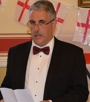 Andy Barton delivering his welcoming speech.