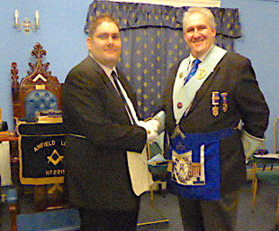Anfield Lodge initiates a new brother