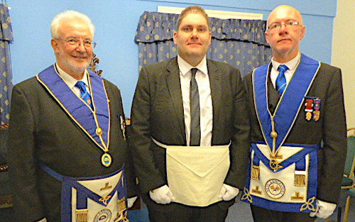 Pictured from left to right, are: Phil Lyon (seconder), Graham Bass and Stephen Lyon (proposer).