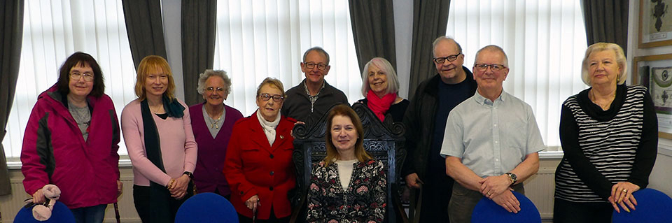 The party of visitors from the Blackpool Civic Trust.