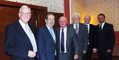 Pictured from left to right, are: Peter Greathead, John Turpin, Harry Cox, David Randerson, Duncan Smith and David Thomas.