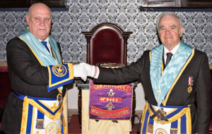 Rob Jones (left) with installing master Keith Lewis.