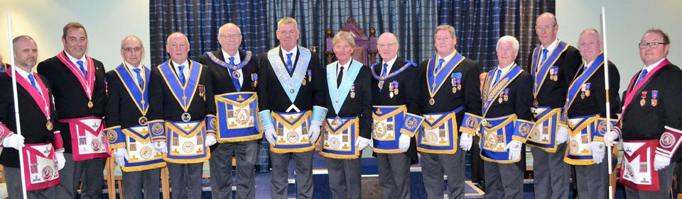 Pictured from left to right, are: Steve McKellar, Scott Devine, Reg Wilkinson, Barry Bray, Philip Gunning, John Eccles, Norman Guy, David Grainger, Neil McGill, Jim Wilson, Graham Dowling, Lesley Newlands and James Stewart.