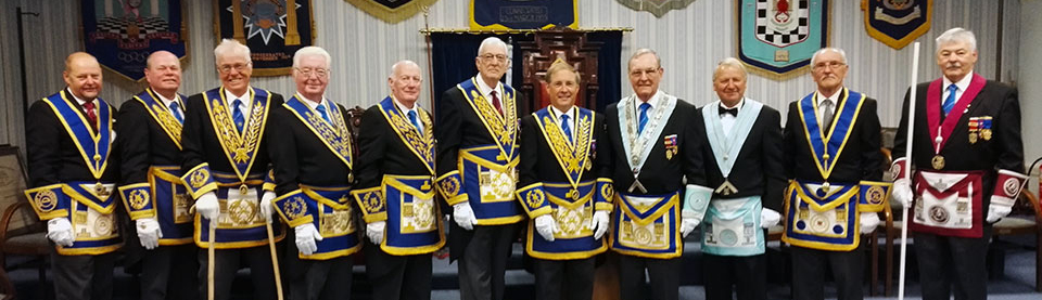 Pictured from left to right, are: John Cross, Duncan Smith, Geoffrey Pritchard, Keith Jackson, Tony Hough, Peter Greathead, Giles Berkley, Gordon Hinchliffe, Russell Forsyth, Bill Sergeant and John Pitches.