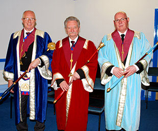 Paul attends Thornton Chapter installation