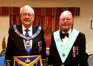 Pictured are: Philip Gunning (left) with Colin Mills.