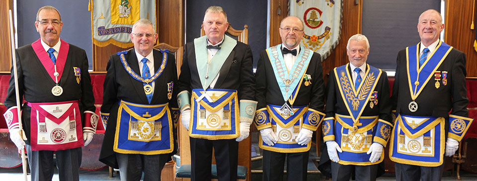 Pictured from left to right, are: Peter Ledder, Stewart Seddon, Gowan O'Hagan, Ellis Wilkinson, Geoff Saul and Gordon Smith.