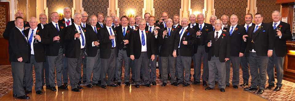The members of Quingenti Lodge who 'stewarded' at the banquet.