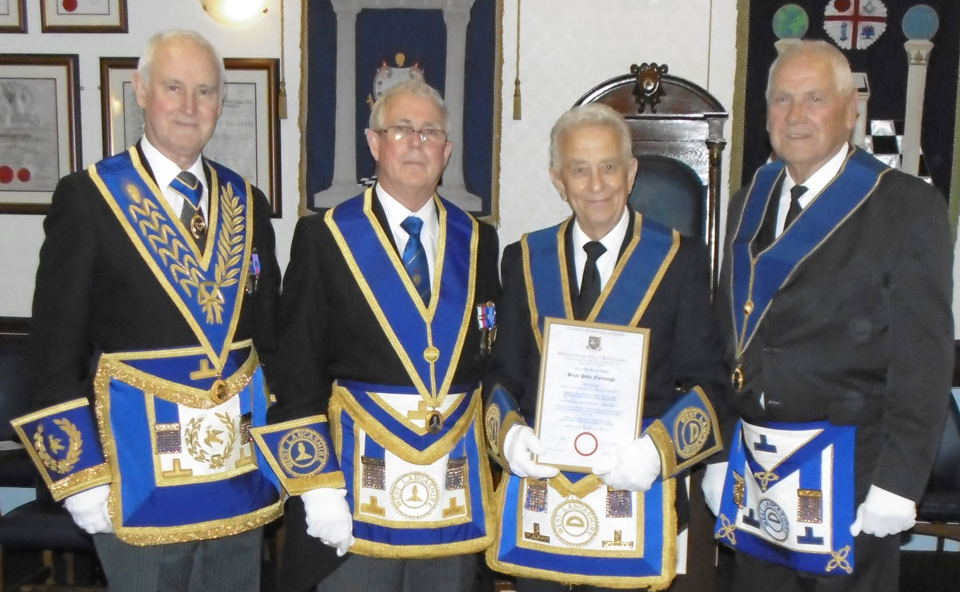 Pictured from left to right, are: Stanley Oldfield, Geoffrey Porter, Brian Fairclough and Aubrey Fairclough.