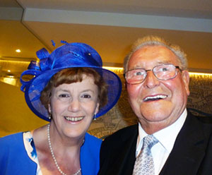 Gordon Thomson and his wife June at the Royal Garden Party.
