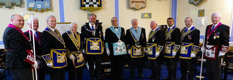 Pictured from left to right, are: Graham Kenyon, John Riley, Peter Bentham, Ron Sands, Frank Umbers, Michael Shakespeare, Ramon Ashton, Harry Cox, David Thomas, John Turpin and John Pitches.