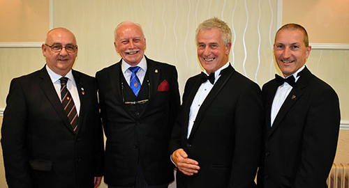 Pictured from left to right, are: Ian Cottam, Bill Joughin, Bob Heron and Tony Jackson.