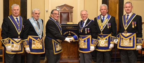 Pictured from left to right, are: David Johnson, Barry Elman, Louis Collins, Derek Parkinson, Mark Matthews and Ian Halsall.