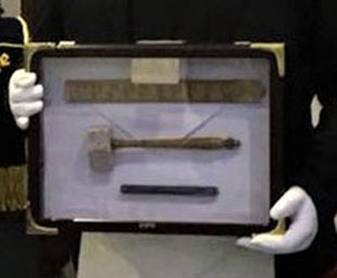 Travelling tools of an entered apprentice Freemason