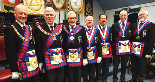 Pictured from left to right, are: Barry Jameson, Tony Harrison, Ian Higham, Duncan Smith, Norman Thomas, Alan Fairhurst and Dave Barr.