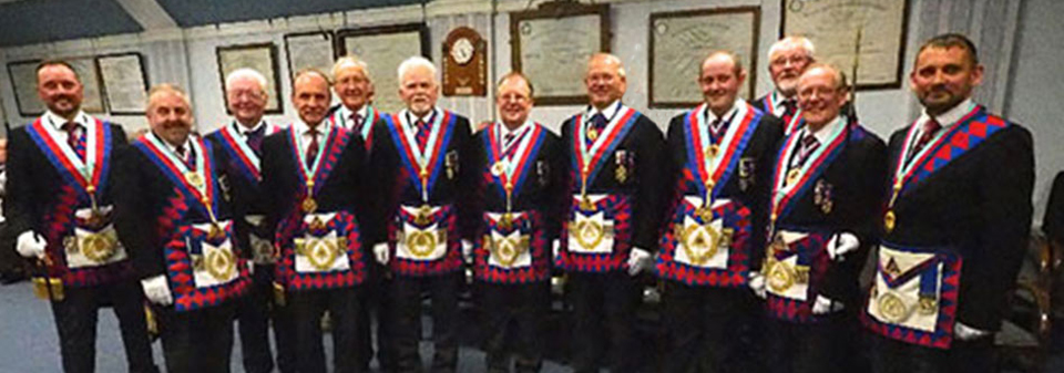 Pictured from left to right, are: Neil MacSymons, Chris Butterfield, Keith Jackson, Peter Taylor, David Harrison, David Randerson, Colin Rowling, Chris Band, Tony Hall, Dave Barr, Ian Cuerden and David Thomas.