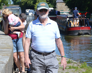 Malcolm Morrison from Duke of Lancaster Lodge No 1353 leading the way.
