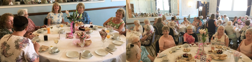 The ladies enjoy their 'afternoon tea'.