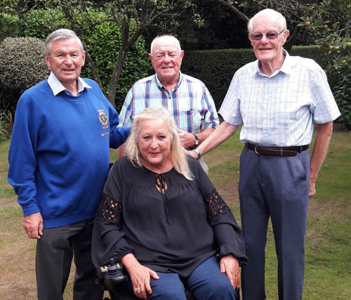 Pictured with Val from left to right, are: Iain McNair (Lions: Past President-Southport), John Tamlin (Lions Project Leader for the appeal) and John Allwright.