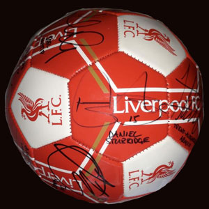 Liverpool signed ball.