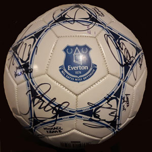 Everton signed ball.