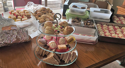 A selection of some of the goodies available at the afternoon tea.