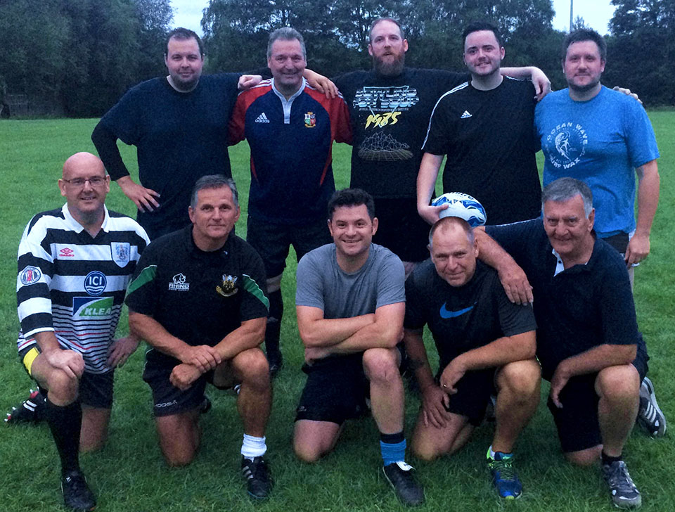West Lancashire Freemasons RFC at their first training session.