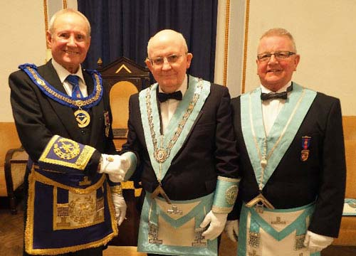 Pictured from left to right, are: David Walmsley, John Davies and Ted Eaves.