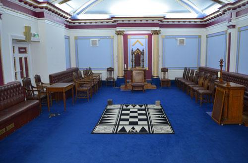 The lodge room.