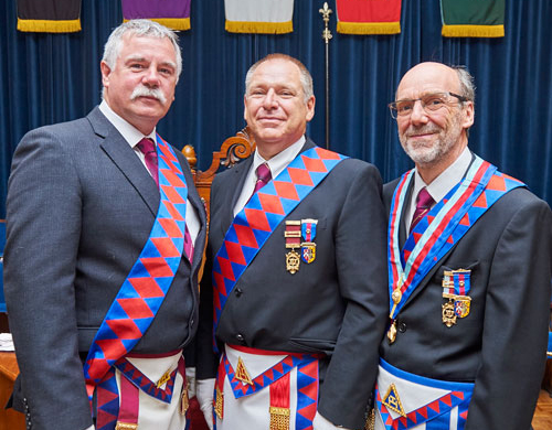 Pictured from left to right, are: Stephen Ralph, Mick O'Brien and acting third principle David Case.