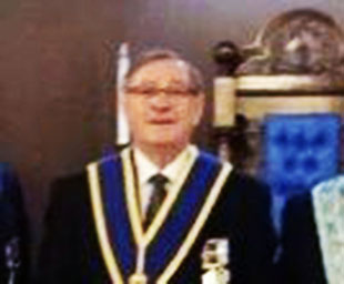 Fred celebrates 50 years in Freemasonry