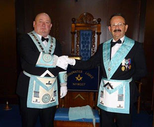 Mark installed at Broadwater Lodge