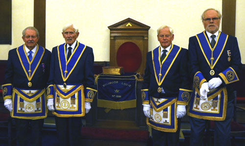 Pictured from left to right, are: Alan Gillard, Jim Allardice, Norman Illingworth and Geoff Pearce.