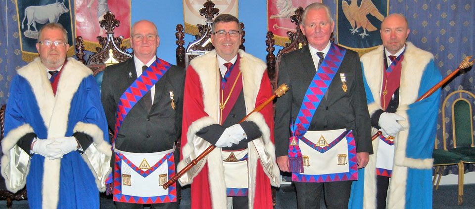 Pictured from left to right, are: George Strickland, James Hodgson, Paul McLachlan, Geoffrey McKay and Colin Graham.