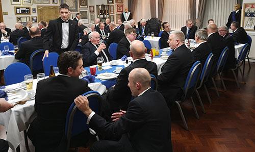 Mereside Lodge members enjoying the Festive Board.