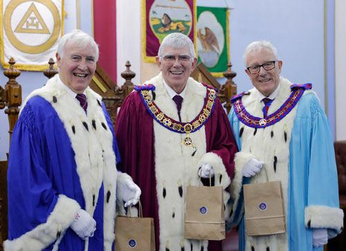 Pictured from left to right, are: John Hutton, Tony Harrison and Ian Higham displaying their traditional Eccles cakes.