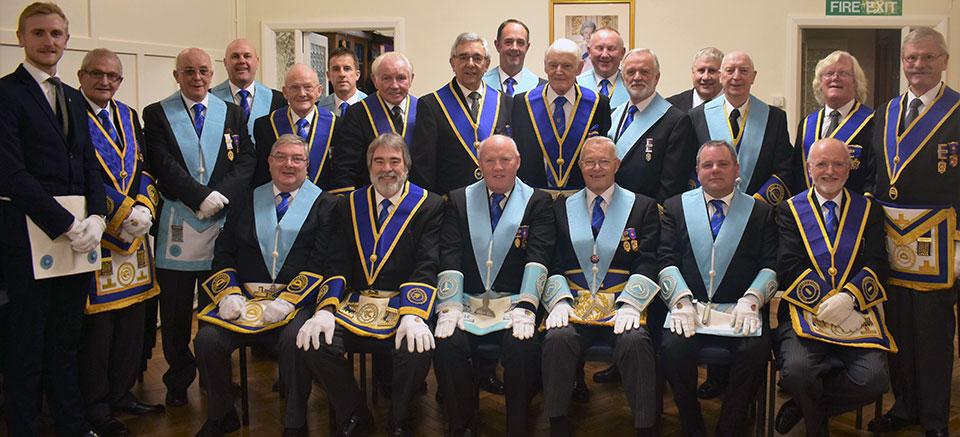 The brethren of Arthur John Brogden Lodge.
