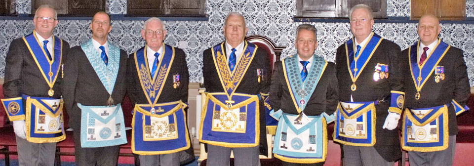 Pictured from left to right, are: Gary Mason (group secretary), Peter Armstrong, Peter Williams, Dave Anderton, Ian Yoxall, John Murphy and Dave Atkinson (group vice chairman).