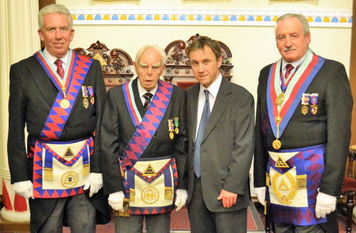 Pictured from left to right, are: Mark Matthews, Les Cairns, David Cairns and Sam Robinson.